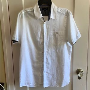Ted Baker white shirt sleeve button up